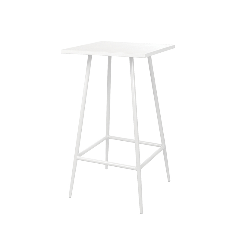 White Aluminium Outdoor Poseur Table