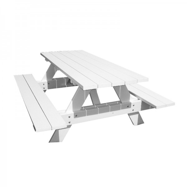 White Picnic Bench