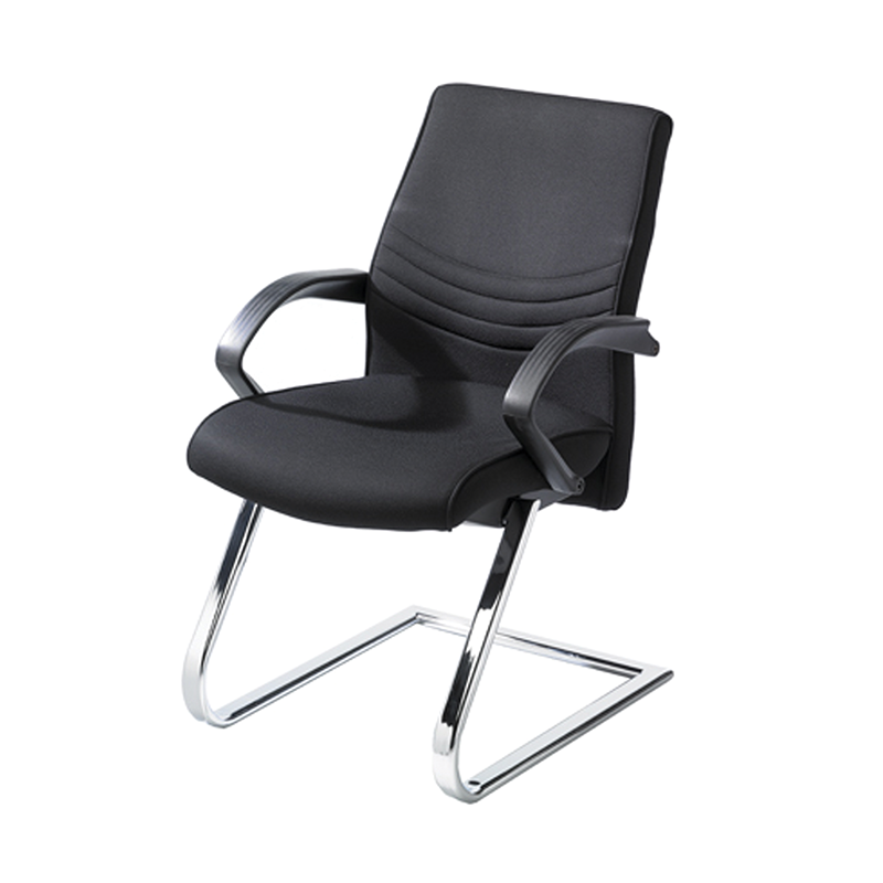 Black Fabric Cantilever Meeting Chair