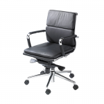 Black Eames Style Medium Back Chair