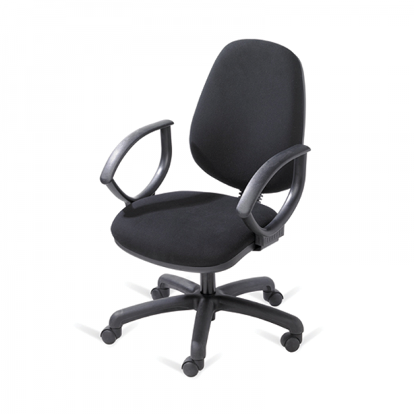 Black Operator Chair with Arms