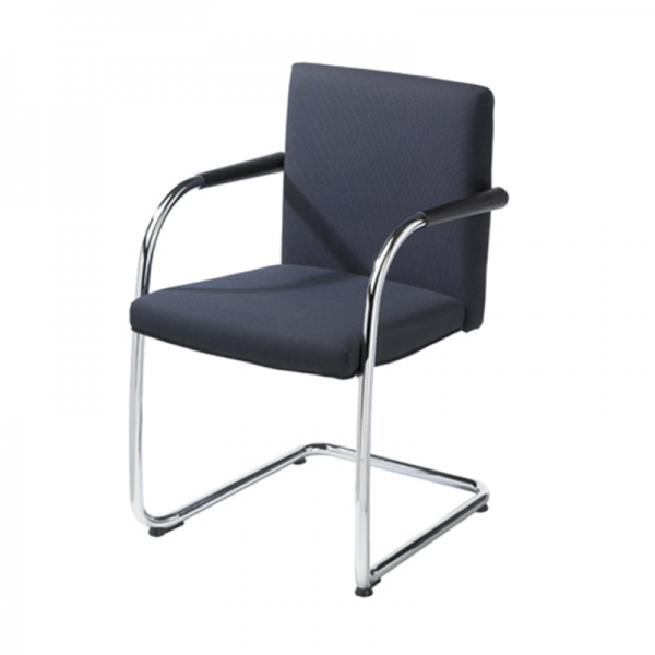 Mixed Fabric Cantilever Meeting Chair