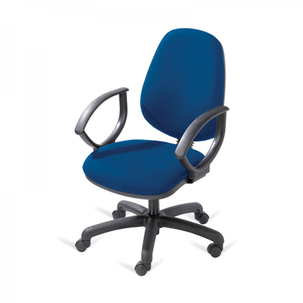 Blue Operator Chair with Arms