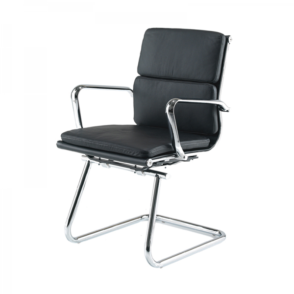 Black Eames Style Meeting Chair