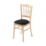 Natural Banqueting Chair - Black Seat Pad