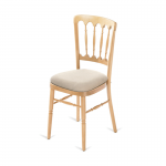 Natural Banqueting Chair - Cream Seat Pad