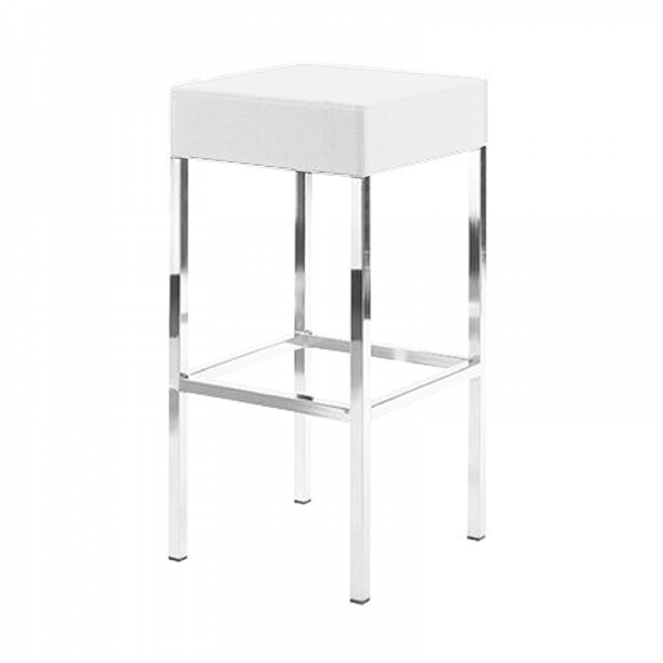 White Kube Stool