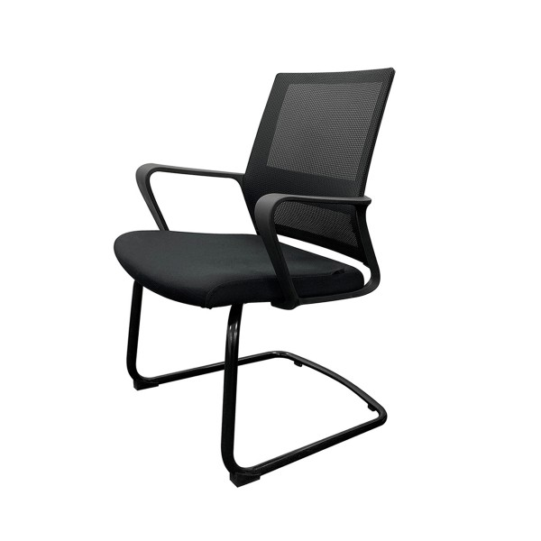 Black Mesh Conference Chair