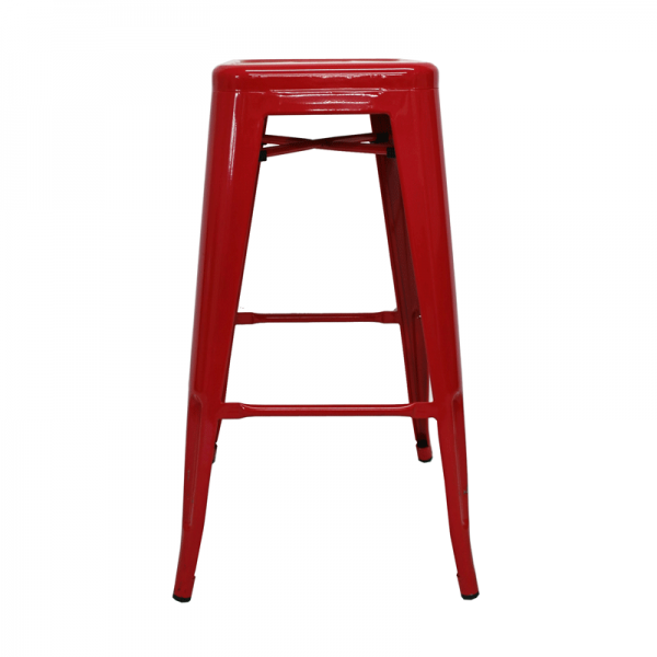 Red Aluminium Event Stools