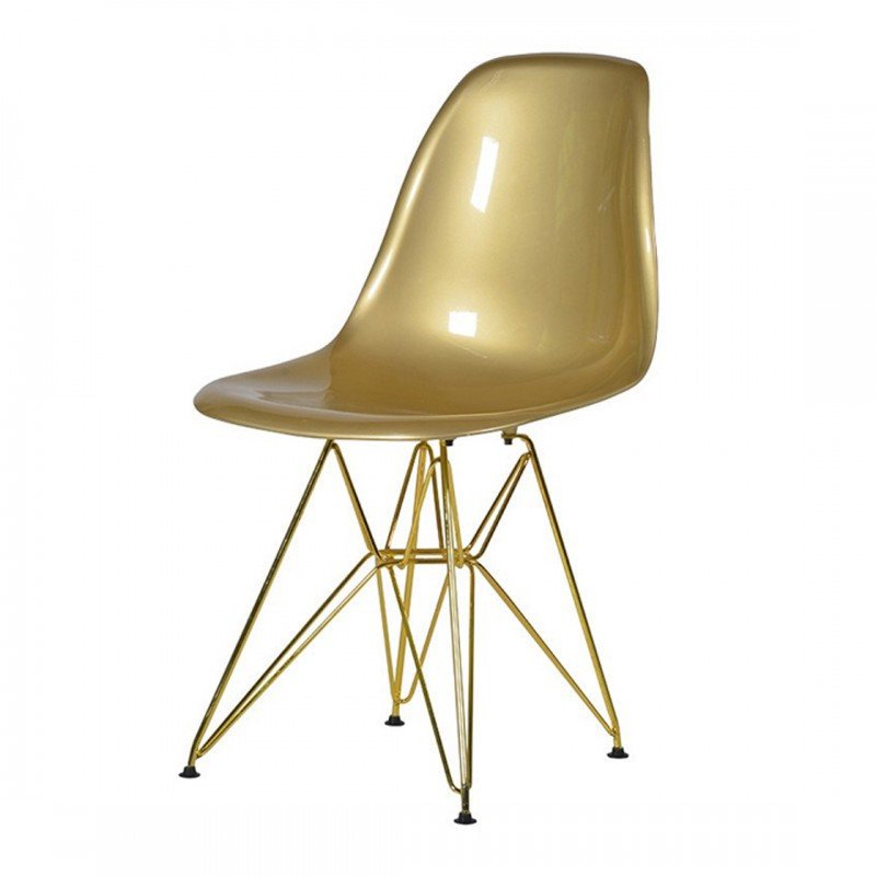 Eames Style Chair Gold