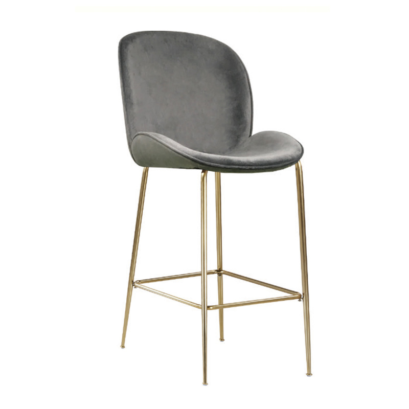 Grey Velvet Bar Stool Hire
