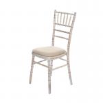 Limewash Chiavari Chair - Cream Seat Pad