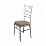 Limewash Chiavari Chair - Mushroom Seat Pad