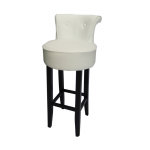 George White Leather Bar Stool