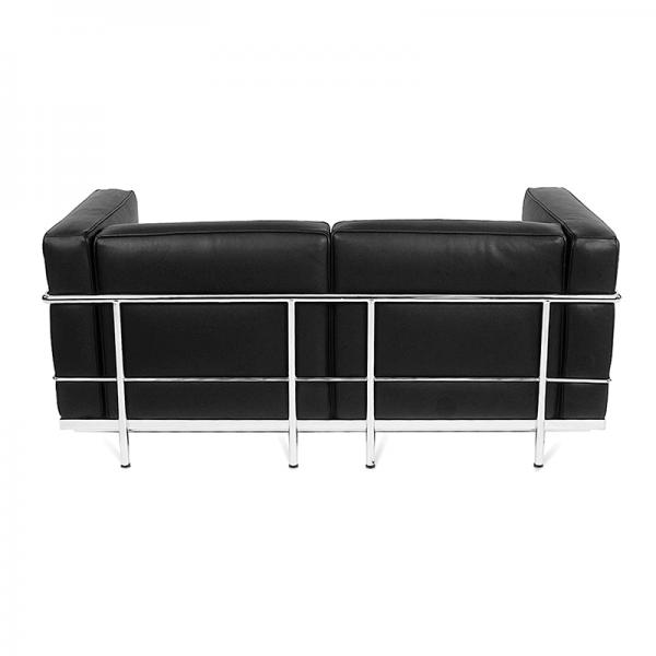 Black Le Corbusier Style 2 Seater Sofa