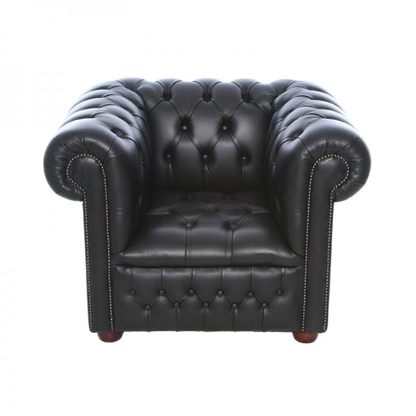 Black Chesterfield Style Armchair