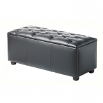 Black Chesterfield Style Modular Seat