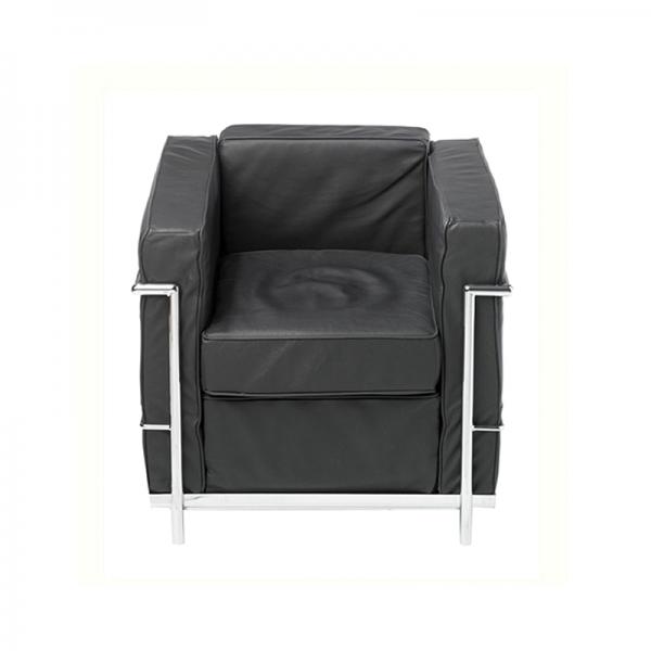 Black Le Corbusier Style Armchair