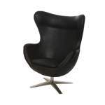 Black Leather Egg Style Chair