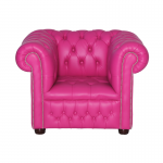 Pink Chesterfield Style Armchair