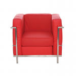 Red Le Corbusier Style Armchair