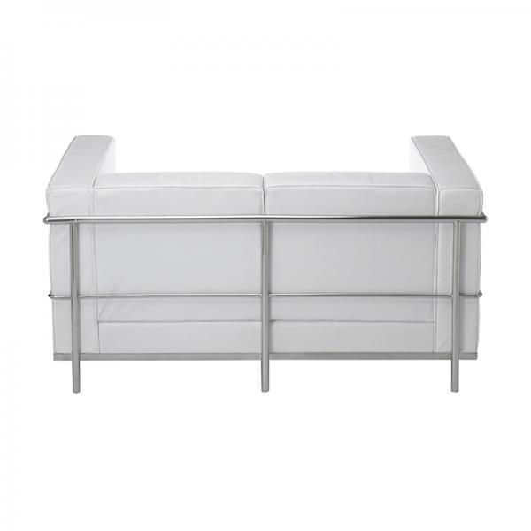 White Le Corbusier Style 2 Seater Sofa