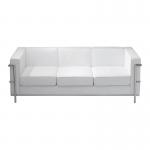 White Le Corbusier Style 3 Seater Sofa