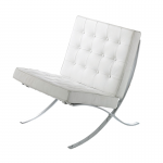 White Barcelona Style Chair