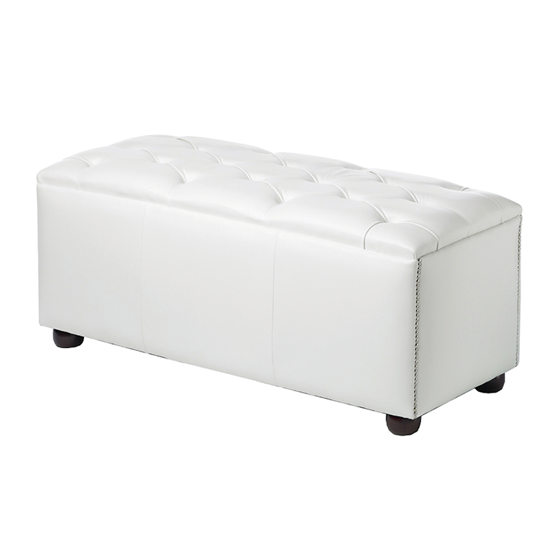 White Chesterfield Style Modular Seat