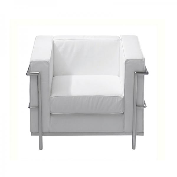 White Le Corbusier Style Armchair