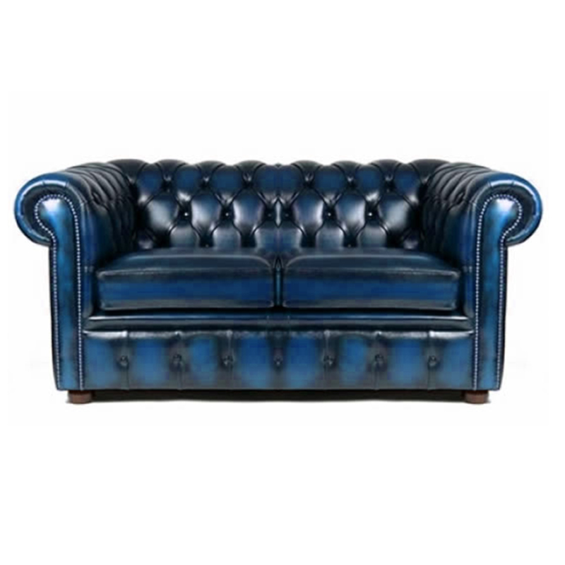 Antique Blue Chesterfield Style 2 Seat Sofa | Sofa Hire