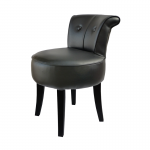 George Black Leather Low Chair