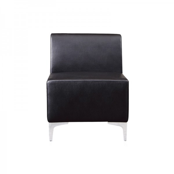 Leather Modular Reception Sofa - Mid Section