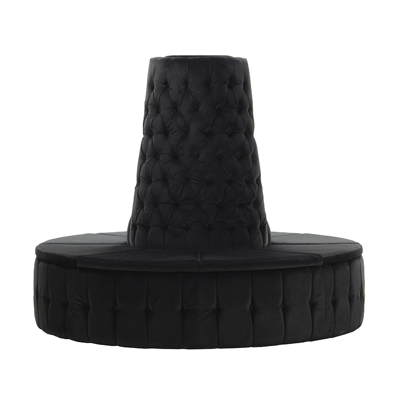 Black Velvet Chesterfield Style Doughnut Tower