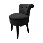 George Black Velvet Low Chair