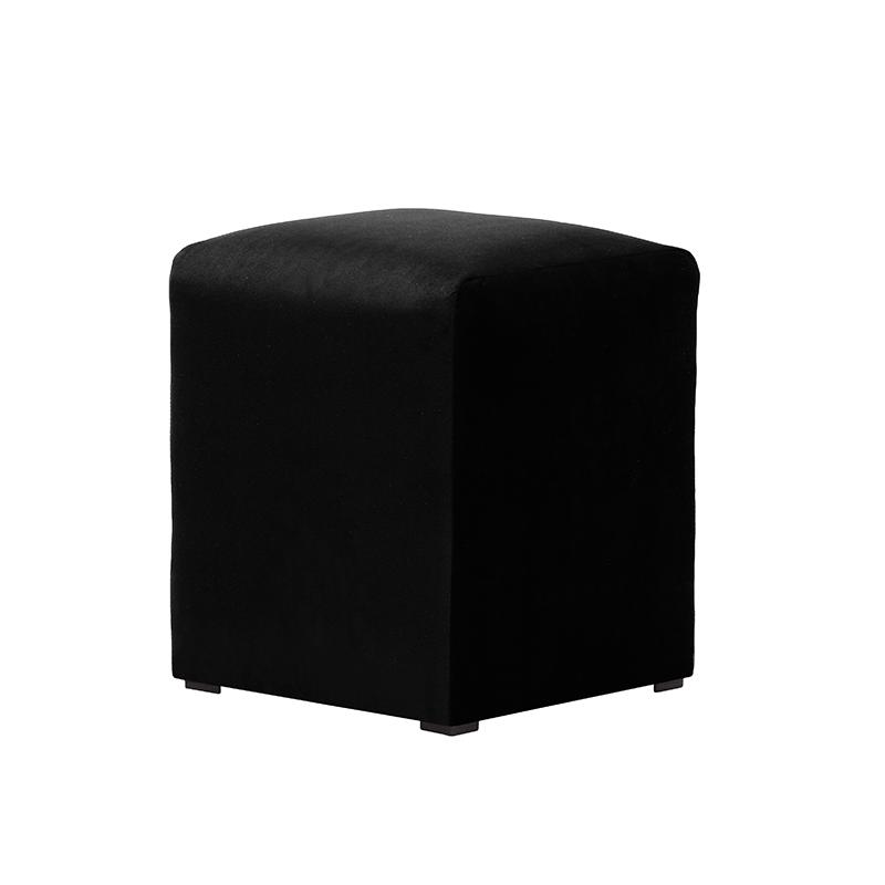 Black Velvet Pouffe