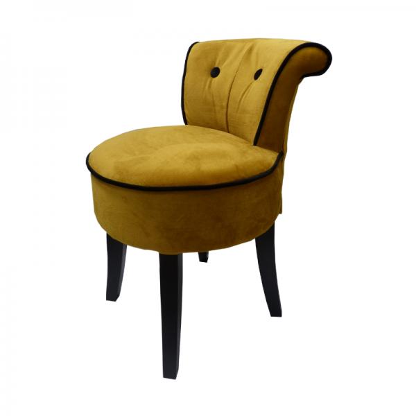 George Gold Velvet Low Chair