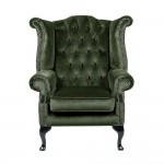 Green Velvet Wingback Chair