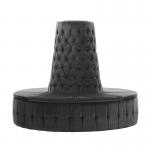 Grey Velvet Chesterfield Style Doughnut Tower