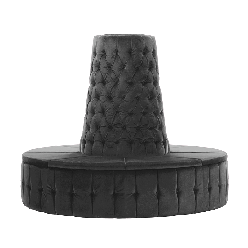 Grey Velvet Chesterfield Style Doughnut Tower