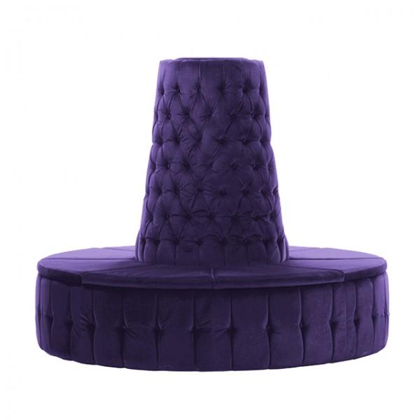 Purple Velvet Chesterfield Style Doughnut Tower