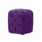 Purple Velvet Chesterfield Style Pouffe