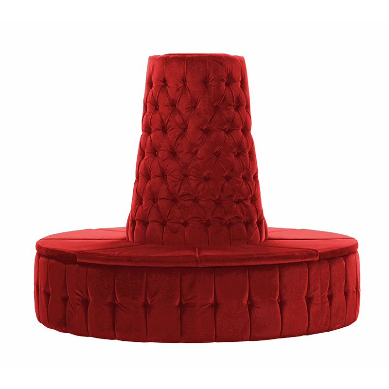 Red Velvet Chesterfield Style Doughnut Tower