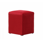 Red Velvet Pouffe