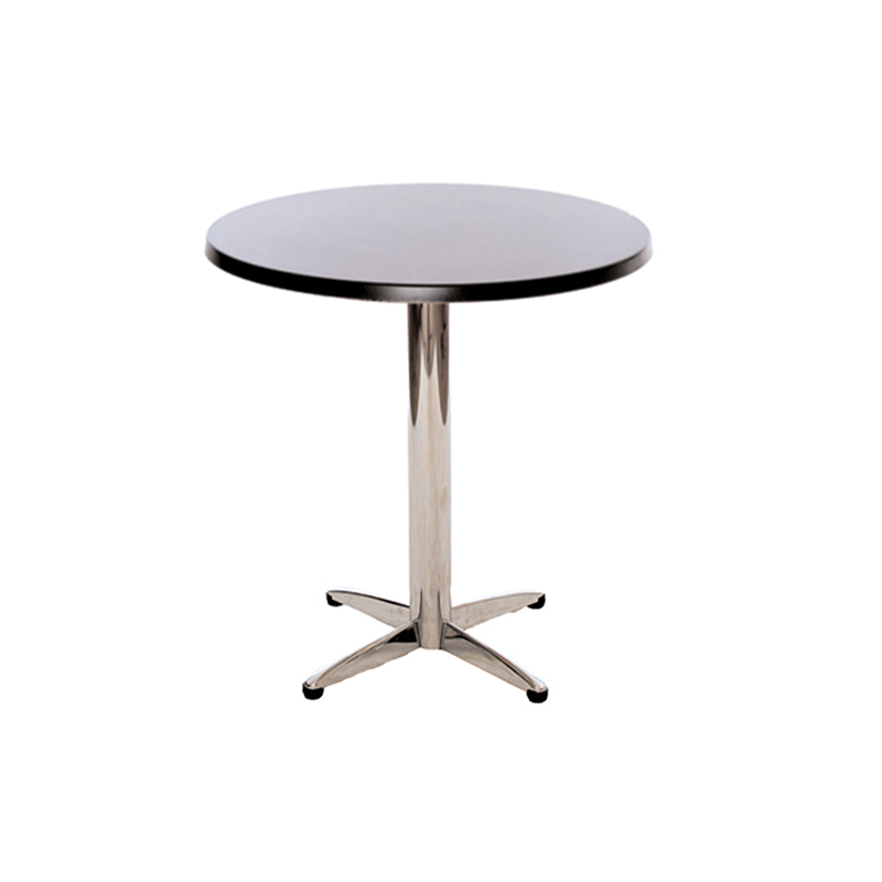 Black Circular Bistro Table
