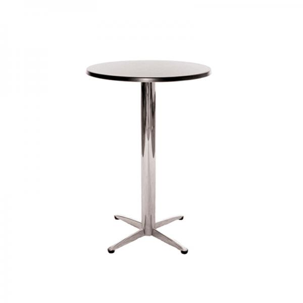 Black Circular Poseur Table