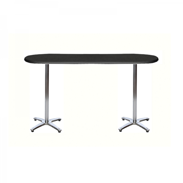 Black Long Poseur Table
