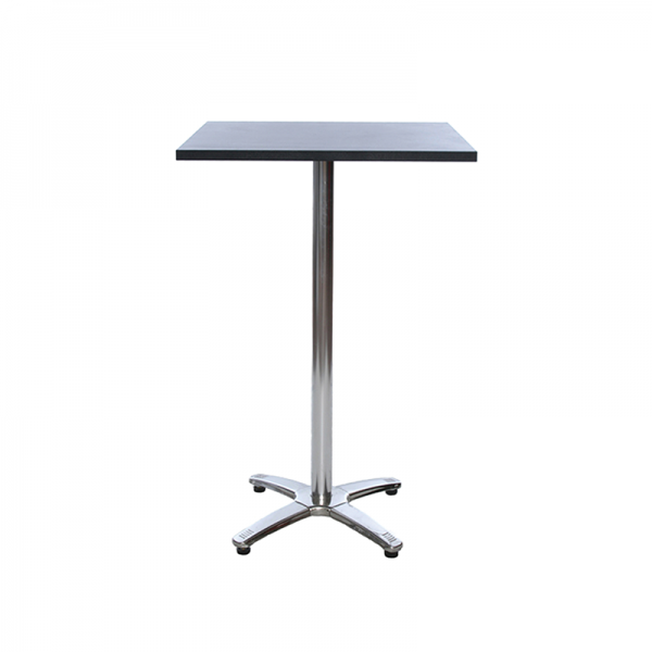 Black Square Poseur Table