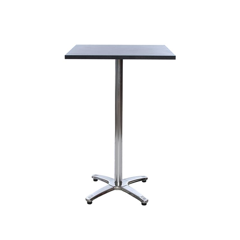 Black Square Poseur Table