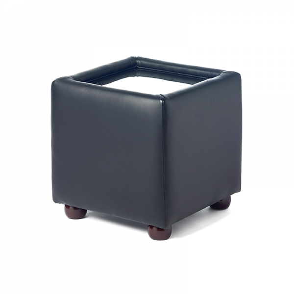 Black Leather Cube Coffee Table